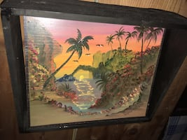Mexican tile painting