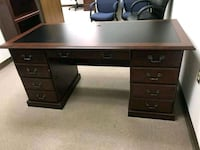 black wooden single pedestal desk Manassas, 20111