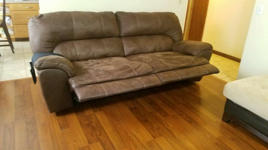black and brown suede sofa in jacksonville letgo
