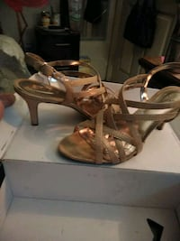 Gold strappy shoes by ALFANI. Redding, 96002