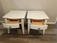 two white wooden side tables Orlando, 32835