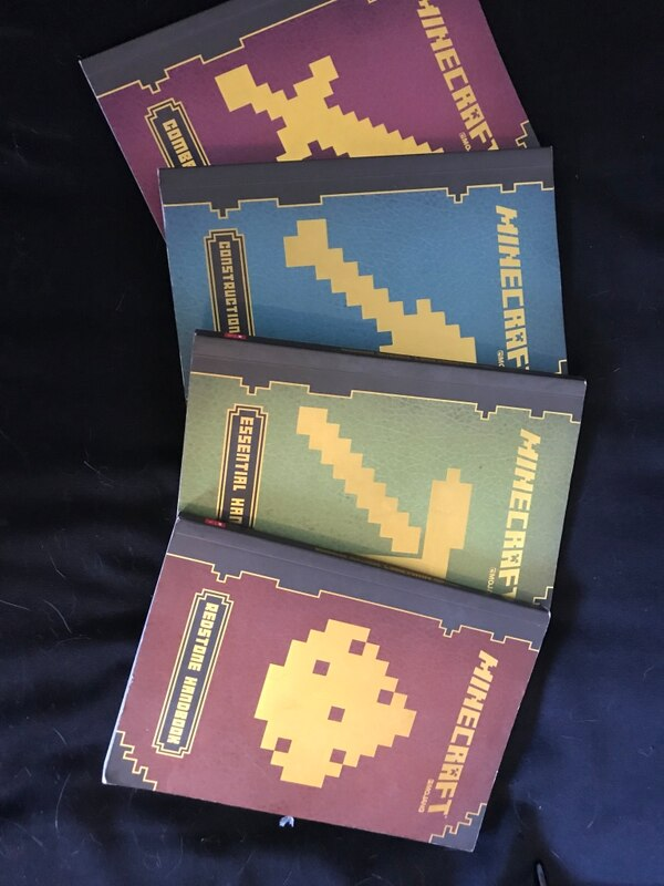 four Minecraft guide books