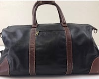 SCULLY Vintage Soft Two Tone Black Brown Leather Carry On Duffle Bag Carrollton, 75006