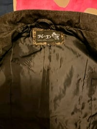 black and brown leather zip-up jacket Cuba, 65453