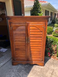 """All wood armoire,  good condition, beautiful piece, electronic access inside or great for storage. Dimensions 61""""x44x24"""""""