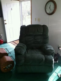 black leather recliner sofa chair 764 mi