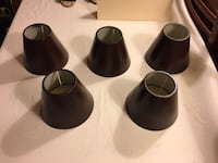 Chandelier Lamp Shades - Set of 5 Brown Metal Lansdowne