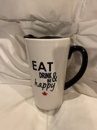 Eat drink and be happy  travel coffee mug