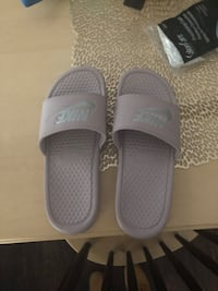 Brand new never worn Nike grey pink slides Rockfall, 06481