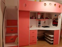 white and pink wooden bunk bed Montréal, H4N 2Z1