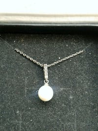 Cate and chloe pearl 18k white gold new necklace  Burtonsville, 20866