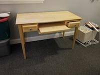 brown wooden desk