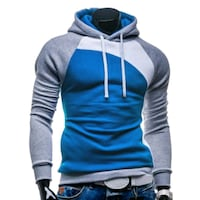 blue and gray zip-up hoodie Ames, 50010