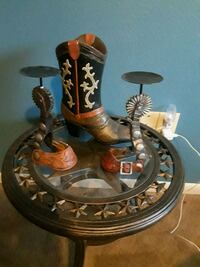 Boot and 12 inch candle holders Bryan, 77802