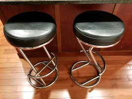 Barstool Leather Chrome Metal New Style