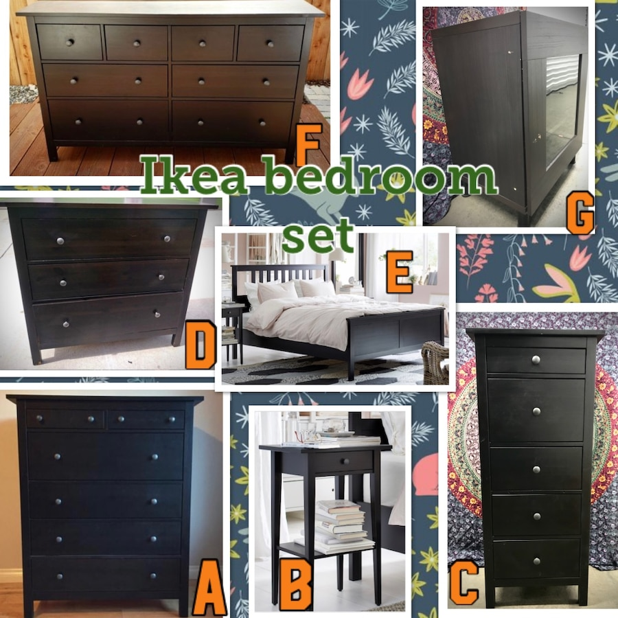 Photo Prices in description- ikea seven piece bedroom set