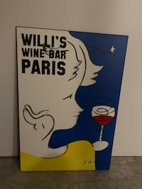 French Poster - Willi's Wine Bar