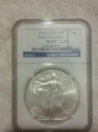 2013 eagle $1 early releases Urbana, 43078