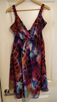 Colourful Penningtons summer dress, 1X, like new! New Westminster