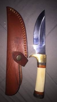 White handle Athame (dagger) with case Temecula, 92591