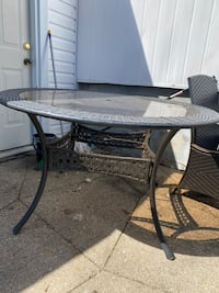 Wicker Patio table only - no chairs
