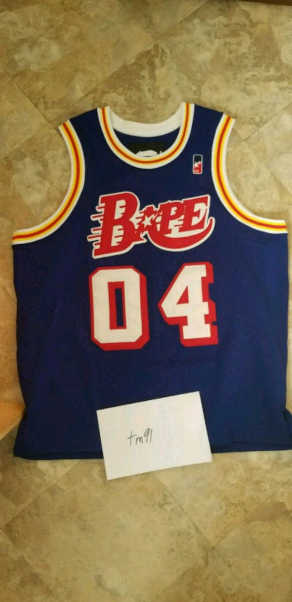 4fa9542dc2e Used A Bathing Ape Sta!! Basketball Jersey 04 Bapesta for sale in ...