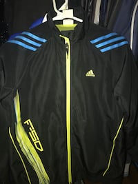black and yellow adidas zip-up jacket 555 km