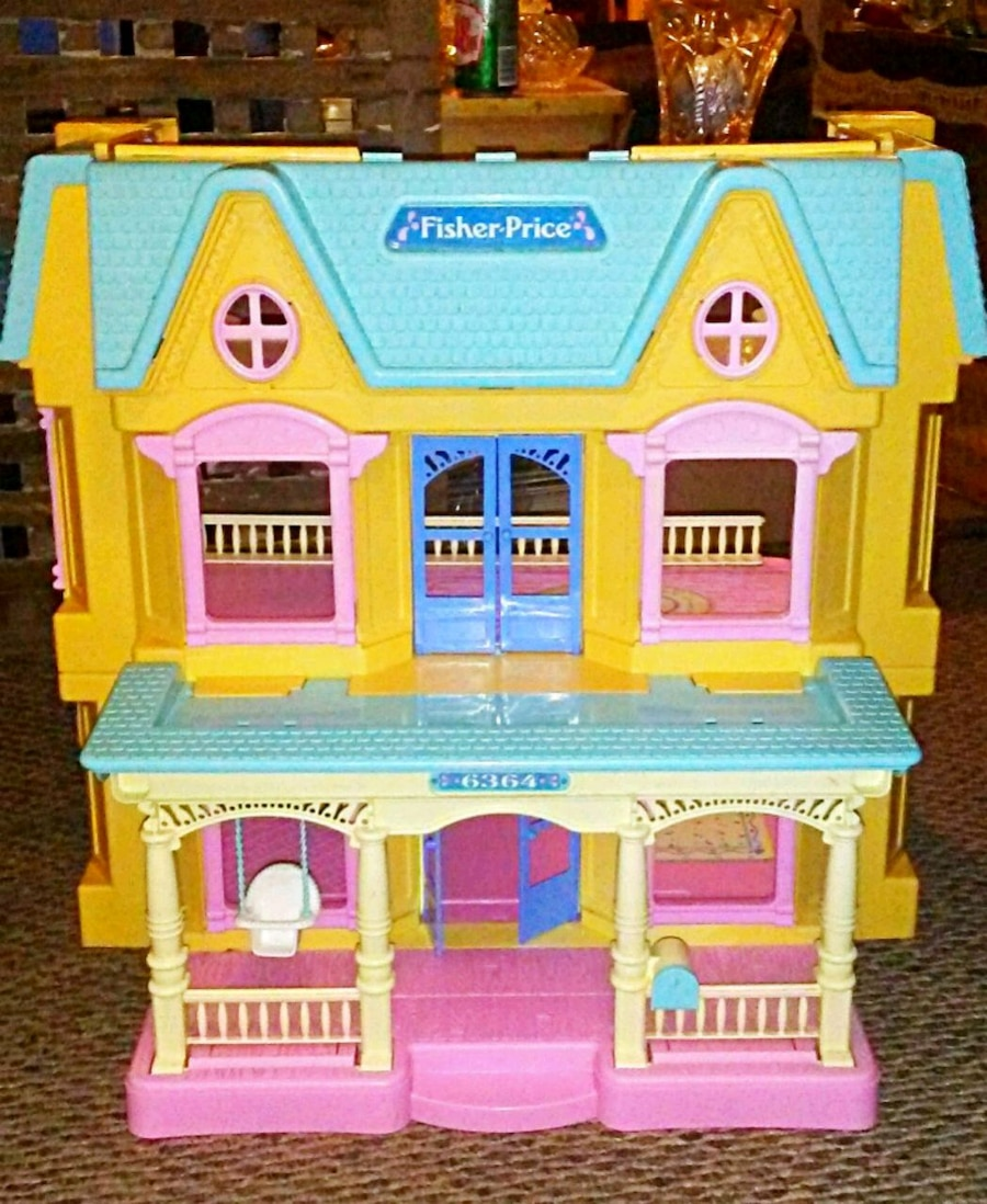 Photo Vintage fisher price loving family dollhouse