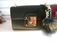 black leather leather crossbody bag Hamilton