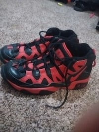 black and red lace up nike basketball shoes Annapolis, 21401