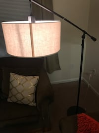 White and brown table lamp 538 mi
