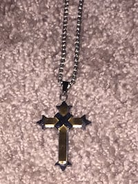 Stainless steel silver and gold cross long chain necklace  Corpus Christi, 78411