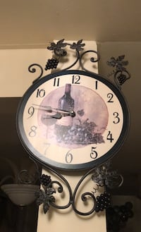Clock with grape and wine design Toronto, M2N