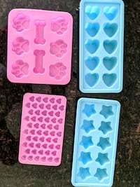 Silicone paw, hearts, stars moulds New Westminster, V3M 0C1