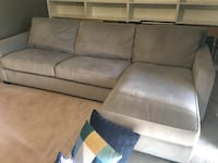WEST ELM Right Chaise 2-Piece Sectional Sofa & SLEEPER Pull-out $1600.00 OBO Woodbridge, 22192