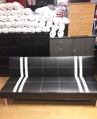 Brand New Black Faux Leather Futon Sofa Bed  Silver Spring, 20910