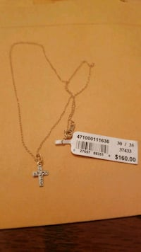 Diamond criss necklace.  13 in chain. Hagerstown, 21742