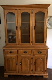brown wooden china buffet hutch Mississauga, L5N 3W1