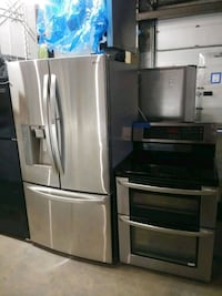 LG stainless steel Fridge and double oven stove  Baltimore, 21223