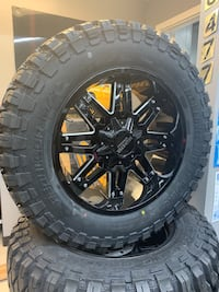 35x12.5x20 RBP tires with mudster wheels brand new