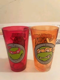 Ninja Turtles Glass Cups Both For $5.00