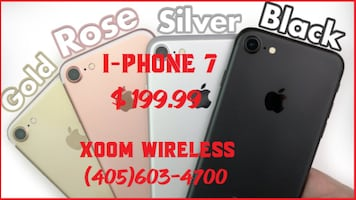 iPhone 7 (network unlocked) is only for $ 199.99 Smart phones starts @ $59.99 right here at XOOM WIRELESS, Huge sale on all smart phones. XOOM WIRELESS has the largest selection of smart phones, tablets, accessories and much more. Authorized dealer of Ver