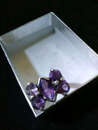 Amethyst, 925. Solid silver ring ,size 5 Lancaster