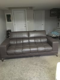Gray leather 3-seat sofa and sony tv with movable mount.  Just reduced! Ingersoll, N5C