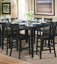 Coaster Furniture Black Counter Height Dinning set Five Piece - Black - $499 (MISSOURI CITY) (New In Boxes) Missouri City