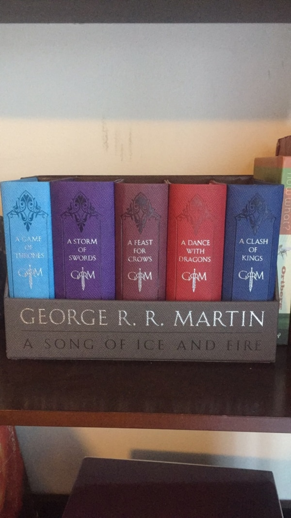 A song of ice and fire/game of thrones books series.