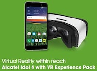 UNLOCKED phone and vr bundle.  The phone is an Alcatel Idol 4.  PERFECT CONDITION  22 km