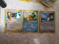 three assorted Pokemon trading cards Rockville, 20850