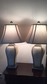 two black-and-gray table lamps Windermere, 34786