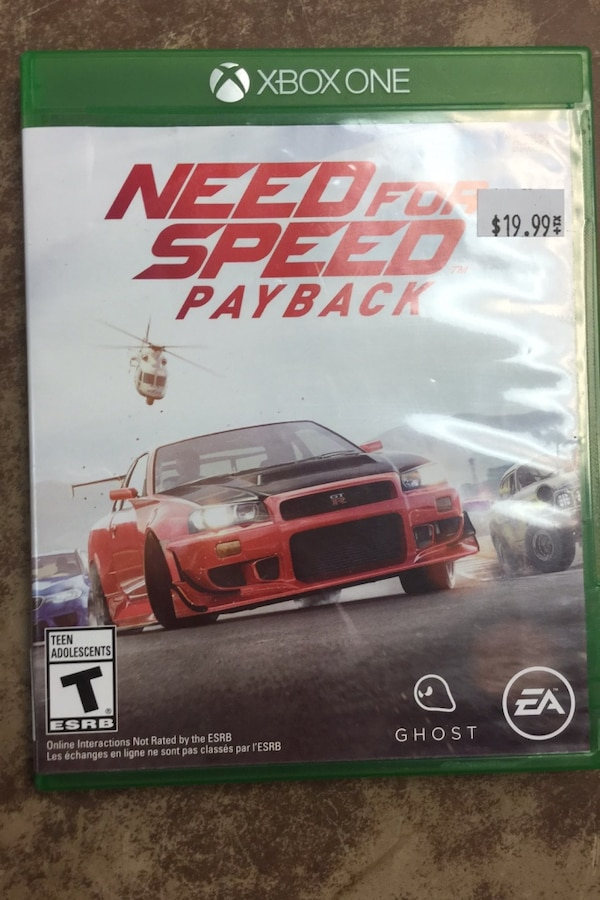 Used Xboxone Need For Speed Payback For Sale In Bakersfield Letgo
